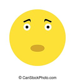 Frustrated smiley face icon