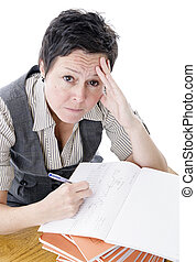 frustrated teacher - frustrated teacher marking students...
