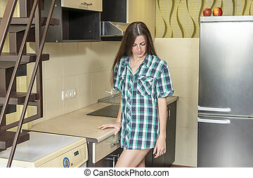 frustrated woman in the kitchen