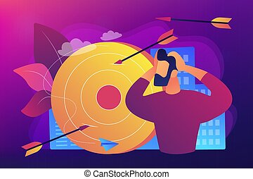 Frustration concept vector illustration