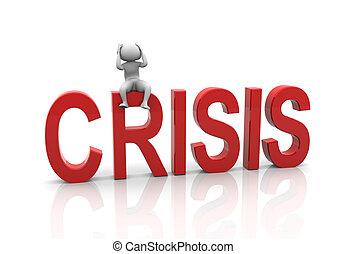Frustration - Stressed and depressed 3d man