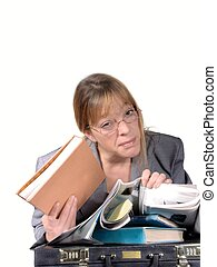 frustration - woman tired of work