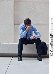 frustriert, junger, kaufleuten zürich