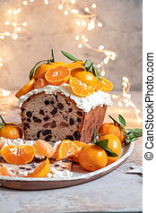 fruta, bolo natal