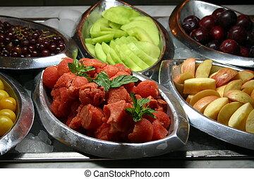 fruta, buffet
