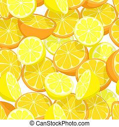 fruta cítrica, azulejo, seamless