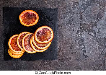 fruta cítrica, fundo