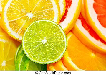 fruta cítrica, plano de fondo