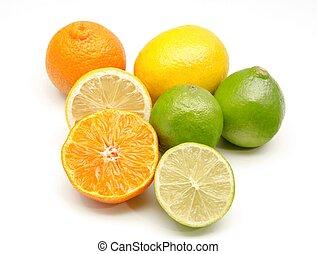 fruta cítrica, surtido