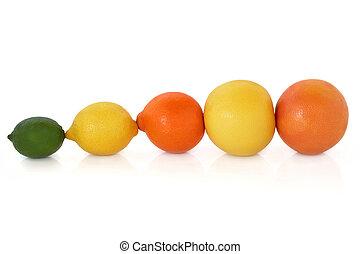 fruta, cítrico