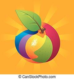 fruta exótica, mezcla