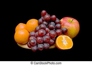 fruta, experiência preta