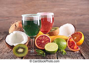 fruta fresca, coquetel