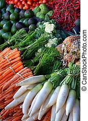 fruta fresca, ligado, tradicional, mercado