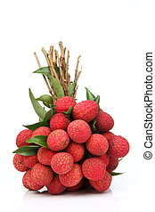 fruta fresca, litchi