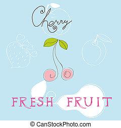fruta, fresco