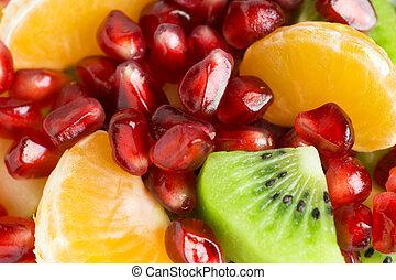 fruta, fundo, salada, saudável
