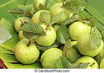 fruta, goiaba, mercado