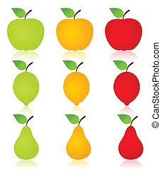 fruta, icono