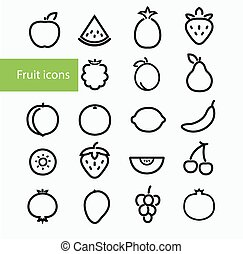 fruta, iconos