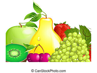 fruta, jugoso