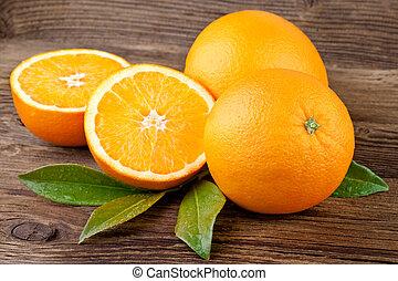 fruta, laranjas