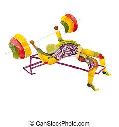 fruta, lifting.
