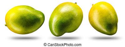 fruta, manga, isolado, cobrança, branca