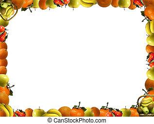 fruta, marco