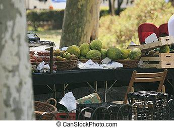 fruta, mercado de calle, barcelona