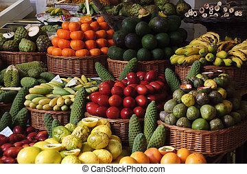 fruta, mercado
