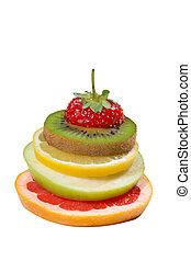 fruta, mezclado