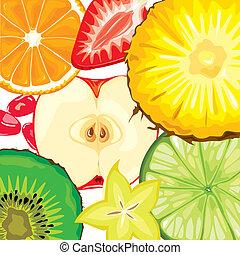 fruta, mistura
