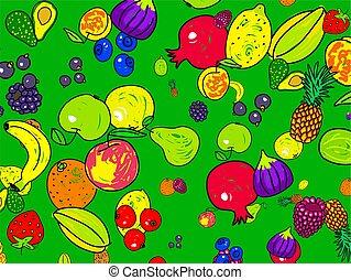 fruta, papel pintado