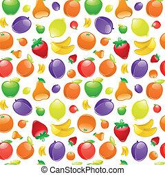 fruta, para, experiência., seamless, padrão