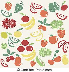 fruta, patrón