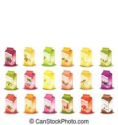 fruta, productos, lechoso