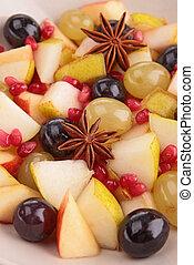 fruta, salada