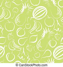 fruta, seamless, fundo