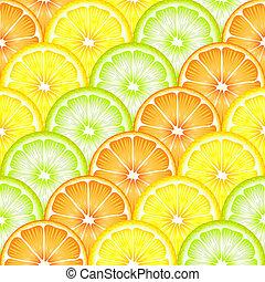 fruta, seamless, rebanadas