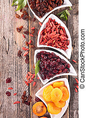 fruta, secado