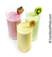 fruta, smoothies