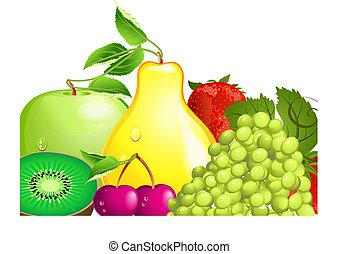 fruta, suculento