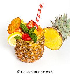 fruta tropical, coquetel