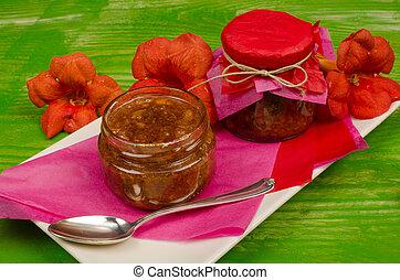 fruta tropical, geléia