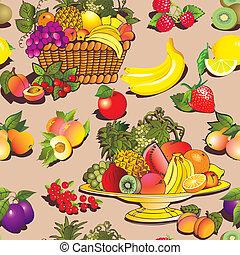 fruta, y, berries.