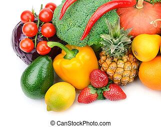 fruta, y, vegetal
