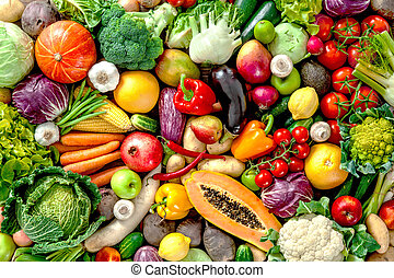 frutas frescas, vegetales