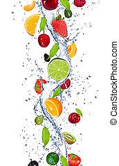 frutas, fresco