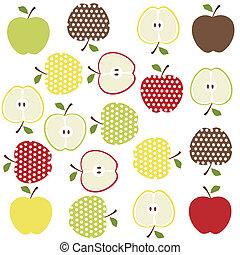 frutas, maçãs, fundo